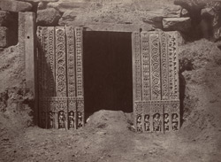 Hungul. Doorway of a detached temple. [Doorway of temple pavilion, Hangal.]